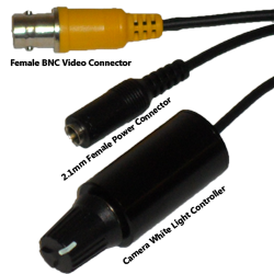 IMAGE: 2.1mm Power Connector, BNC Video Connector & White light controller