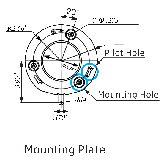 mounting plate - Ruff Ride HD-SDI PTZ Camera