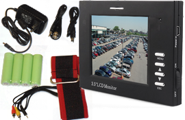 """TMCamPower - 3.5"""" LCD Analog Camera Test/Service Monitor"""